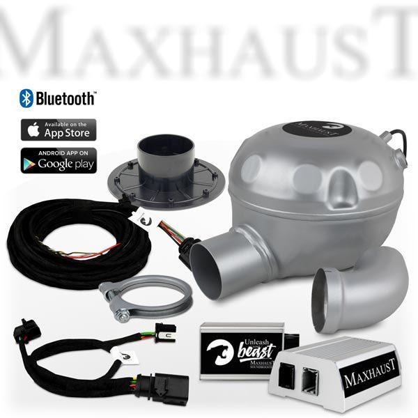 Complete set Maxhaust soundbooster